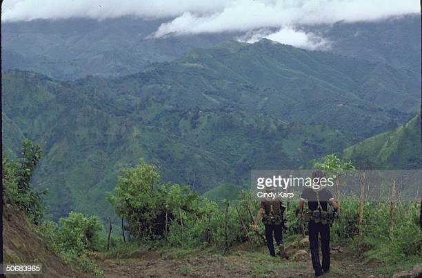 FMLN guerillas near Chalatenengo