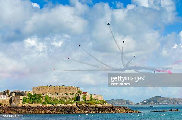 guernsey air display - british military stock pictures, royalty-free photos & images