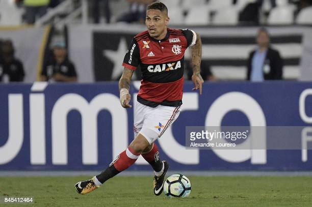 Guerreroof Flamengo in action during the match between Botafogo and Flamengo as part of Brasileirao Series A 2017 at Engenhao Stadium on September...