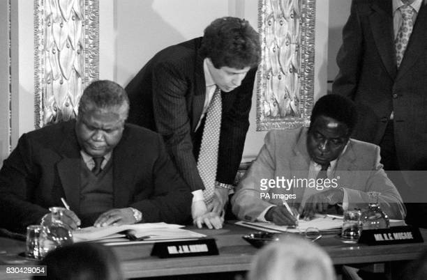 270 Lancaster House Agreement Photos And Premium High Res Pictures Getty Images Zimbabwe lancaster house agreement