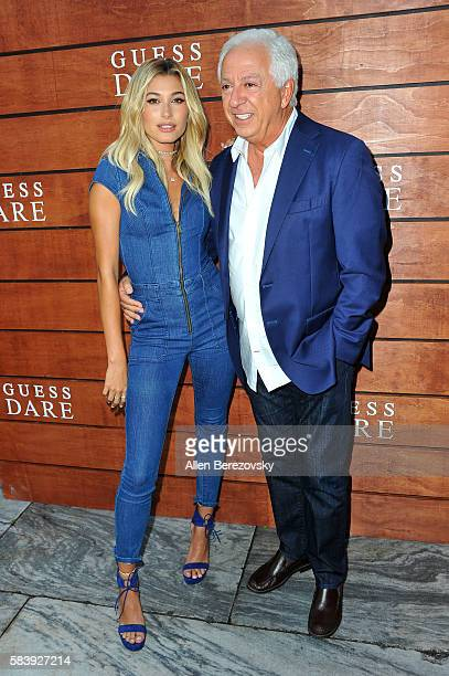 Guess CoFounder Paul Marciano and model Hailey Baldwin attend GUESS Celebration Launch of Dare Double Dare Fragrance at Ysabel on July 27 2016 in...