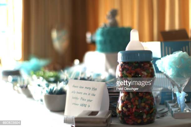 guess the amount of blue jellybean's - baby shower stock pictures, royalty-free photos & images