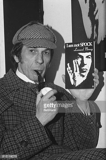 """Guess who """"Sherlock Holmes"""" is? That image in the back is a big clue. """"Sherlock Holmes"""" is """"Mr. Spock."""" Wait, perhaps we'd better unravel all this...."""