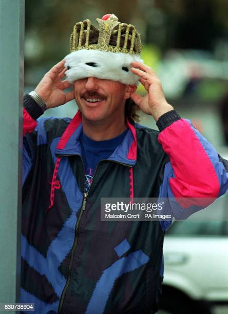Guess who Yes It's Ian Botham trying his crown for size before he plays the king in the pantomime Jack and the Beanstalk at the Davenport Theatre in...