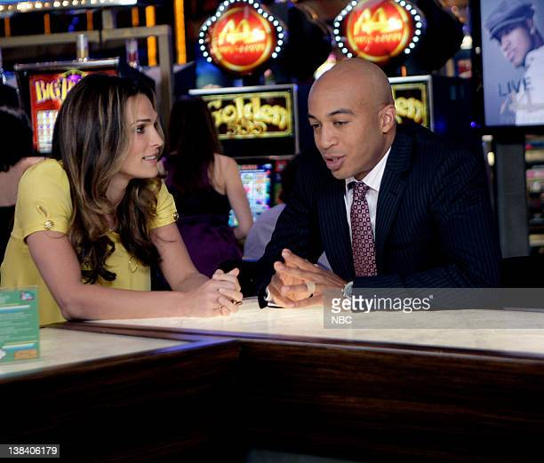 LAS VEGAS Guess Who's Coming To Breakfast Episode 15 Pictured Molly Sims as Delinda Deline James Lesure as Mike Cannon