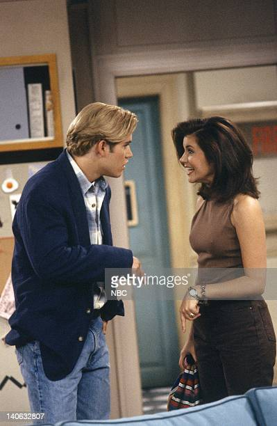 YEARS Guess Who's Coming to College Episode 2 Air Date Pictured MarkPaul Gosselaar as Zack Morris Tiffani Thiessen as Kelly Kapowski Photo by...