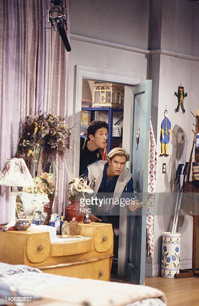 YEARS 'Guess Who's Coming to College' Episode 2 Air Date Pictured Dustin Diamond as Screech Powers MarkPaul Gosselaar as Zack Morris Photo by...