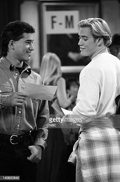 YEARS 'Guess Who's Coming to College' Episode 2 Air Date Pictured Mario Lopez as AC Slater MarkPaul Gosselaar as Zack Morris Photo by Margaret...