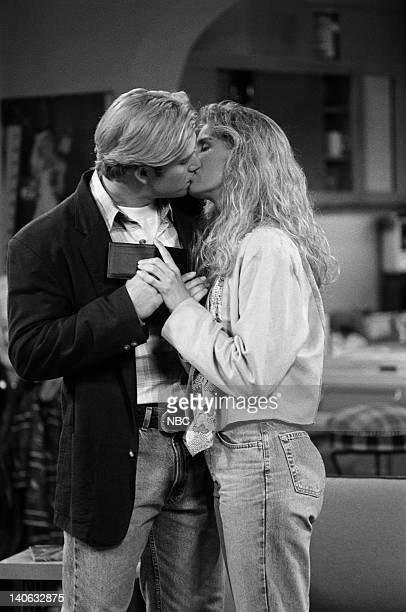 YEARS 'Guess Who's Coming to College' Episode 2 Air Date Pictured MarkPaul Gosselaar as Zack Morris Anne Tremko as Leslie Burke Photo by Margaret...