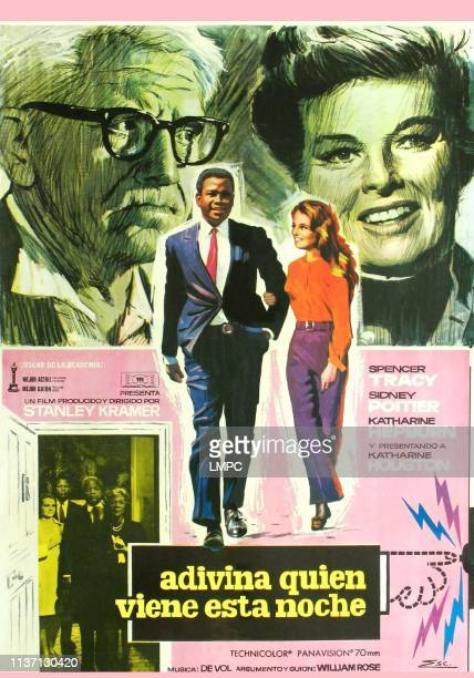 Guess Who's Coming To Dinner poster top from left Spencer Tracy Katharine Hepburn center from left Sidney Poitier Katharine Houghton bottom from left...