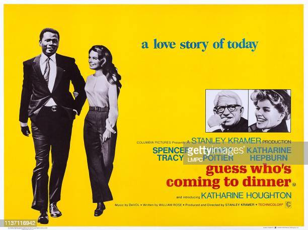Guess Who's Coming To Dinner, poster, US poster art, from left: Sidney Poitier, Katharine Houghton, Spencer Tracy, Katharine Hepburn, 1967.