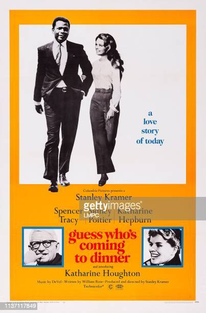 Guess Who's Coming To Dinner poster US poster top from left Sidney Poitier Katharine Houghton bottom from left Spencer Tracy Katharine Hepburn 1967