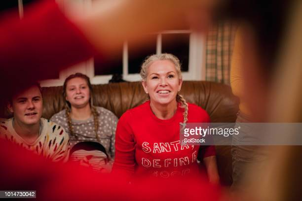 guessing games at christmas - tag game stock photos and pictures