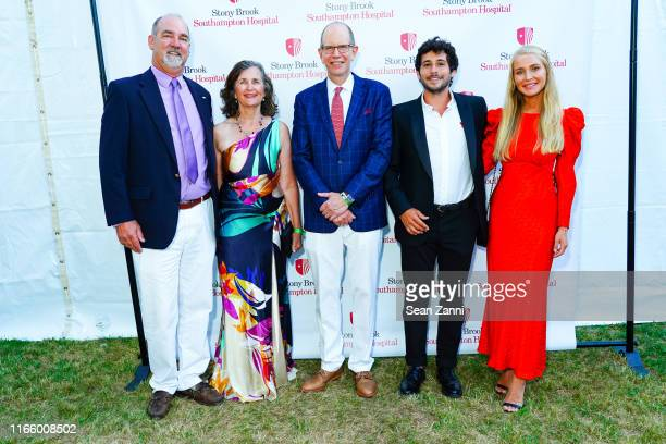 A guest A guest Bob Chaloner Jesse Warren and Martyna Sokol attend the Annual Summer Party Benefiting Stony Brook Southampton Hospital on August 03...