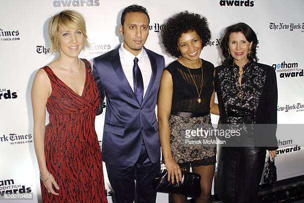 Guest Aasif Mandvi Janis Vogel and Katherine Oliver attend 18th Annual GOTHAM INDEPENDENT FILM AWARDS Red Carpet at Museum of Finance on December 2...