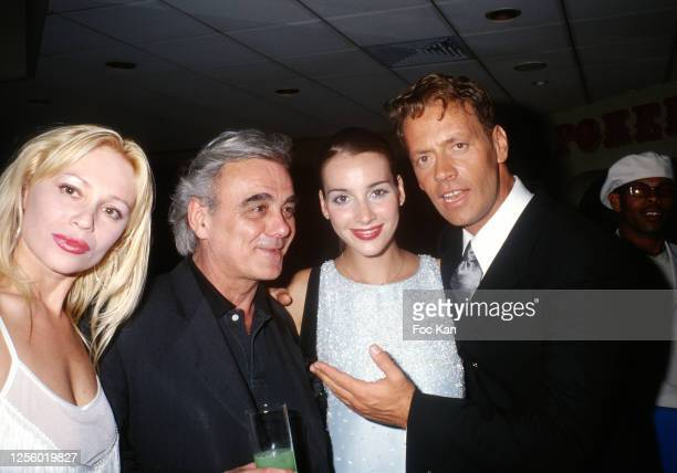 Guest, actor Alban Ceray, Rosa Caracciolo and her husband Rocco Siffredi attend Les Hot D'or duringthe 52nd Cannes Film Festival in May 1999, in...