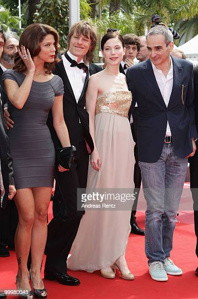 Guest Actor Alexander Scheer Actress Nora Von Waldstaetten and Director Olivier Assayas attends the 'Carlos' Premiere at the Palais des Festivals...