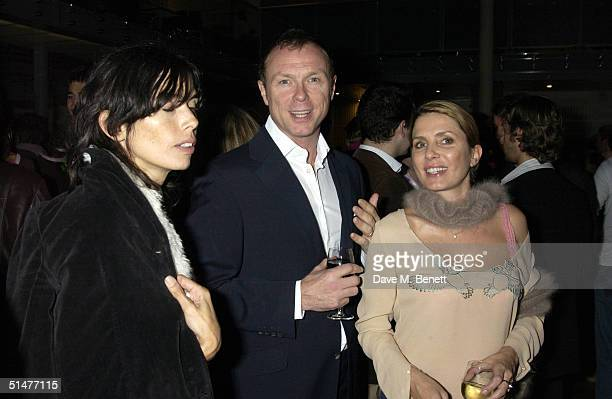 "Guest, actor Gary Kemp and ex-wife fashion designer Sadie Frost attend the private view for Mary McCartney Donald's new exhibition ""Off Pointe"" at..."