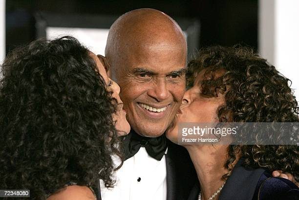Guest actor Harry Belafonte and wife Julie Robinson arrive at the AFI FEST presented by Audi opening night gala of Bobby at the Grauman's Chinese...