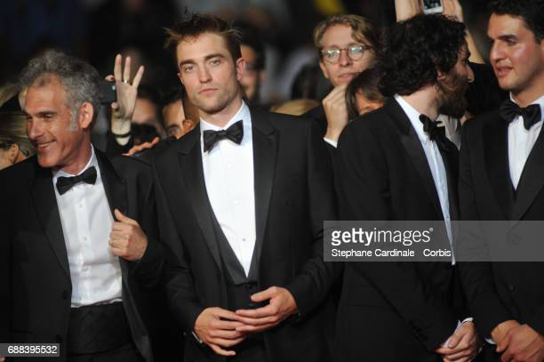 Guest actor Robert Pattinson writer and codirector Joshua Safdie and codirector Ben Safdie attend the 'Good Time' screening during the 70th annual...