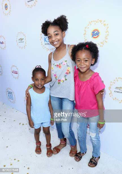 Guest actors Eris Baker and Faithe Herman attend Safe Kids Day 2017 at Smashbox Studios on April 23 2017 in Culver City California
