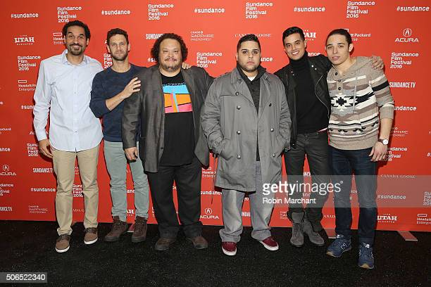 Guest actors Justin Bartha Adrian Martinez Ralph Rodriguez Brian 'Sene' Marc and Anthony Ramos attend the 'White Girl' Premiere during the 2016...