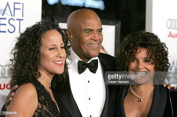 Guest actpr Harry Belafonte and wife Julie Robinson arrive at the AFI FEST presented by Audi opening night gala of Bobby at the Grauman's Chinese...