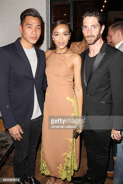 Guest actress Ashley Madekwe and actor Iddo Goldberg attend Variety and Women in Film Emmy Nominee Celebration powered by Samsung Galaxy on August 23...