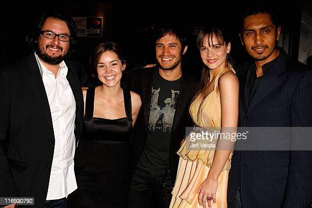 Guest actress Camila Sodi actor Gael Garcia Bernal actress Luz Cipriota and actor Tenoch Huerta Mejia at the 'Deficit' Premiere on September 12 2007...
