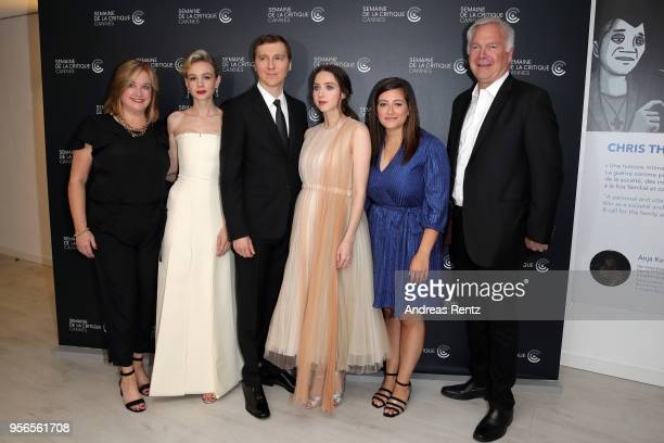 Guest actress Carey Mulligan Director Paul Dano writer/executive producer Zoe Kazan producer Alex Saks and author Richard Ford attend the photocall...