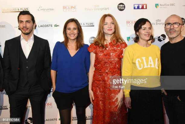 A guest Actress Julie de Bona actress Odile Vuillemin and director director Eleonor Serraille xattend the Trophees du Film Francais 2018 at Palais...