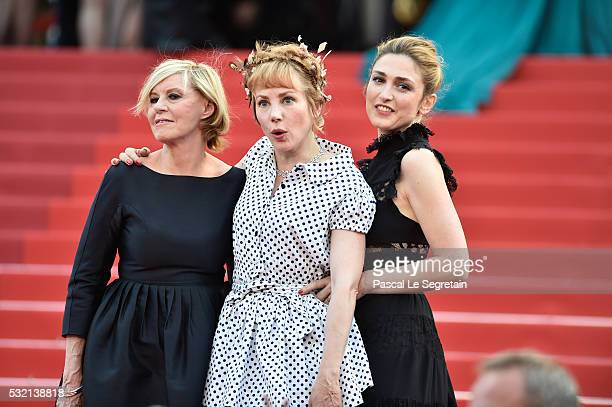 A guest actress Julie Depardieu and actress Julie Gayet attend The Unknown Girl Premiere during the 69th annual Cannes Film Festival at the Palais...