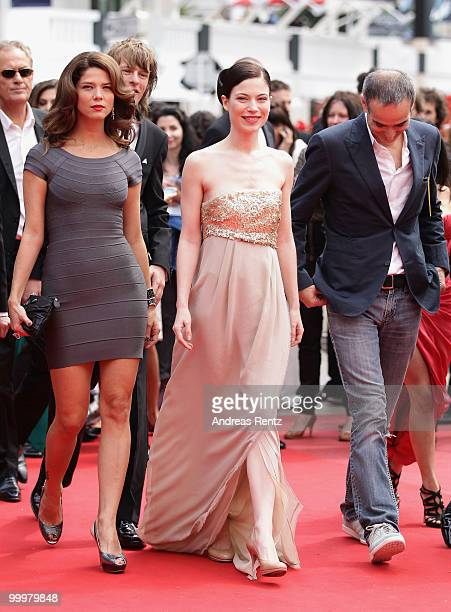 Guest Actress Nora Von Waldstaetten and Director Olivier Assayas attends the 'Carlos' Premiere at the Palais des Festivals during the 63rd Annual...