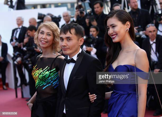 Guest Adilkhan Yerzhanov and Dinara Baktybaeva attend the screening of Capharnaum during the 71st annual Cannes Film Festival at Palais des Festivals...