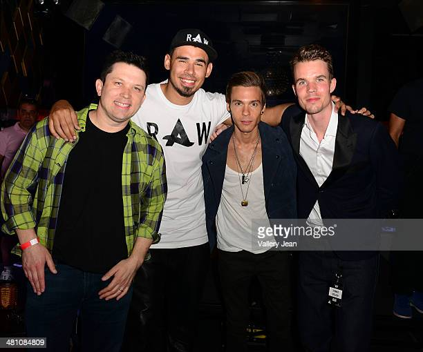 Guest Afrojack Matthew Koma and Thomas Deelder attend a Private Listening Event for Afrojack Debut Album Forget The World at W Hotel on March 27 2014...