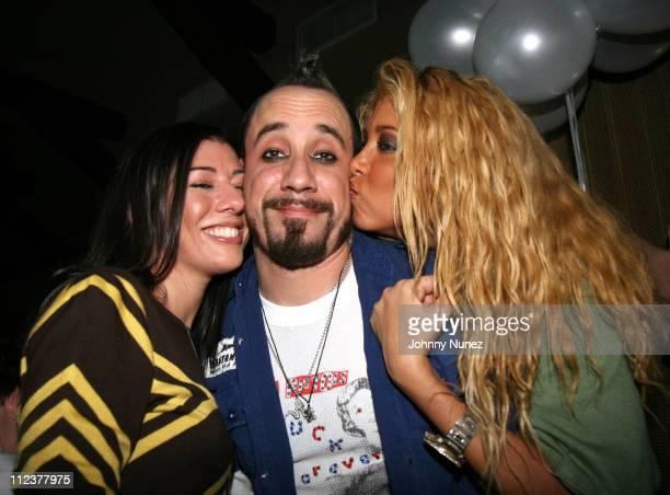 Guest AJ McLean and Samantha Cole during AJ McLean of Backstreet Boys Birthday Party January 9 2007 at Marquee in New York City New York United States