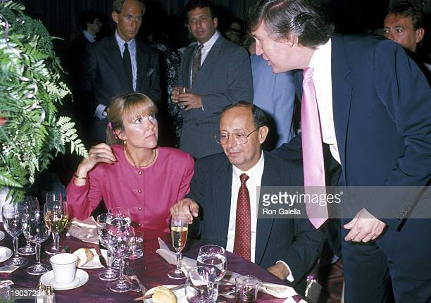 Guest Al D'amato and Donald Trump during Mike Tyson vs Carl Williams July 21 1989 at Trump Plaza in Atlantic City New Jersey United States
