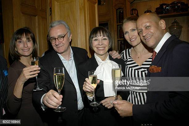 Guest Alain Ducasse Maggie Lacose Gwenaelle Gueguen and guest attend Benoit Opening Party Hosted by Pamela Fiori and Alain Ducasse at Benoit...