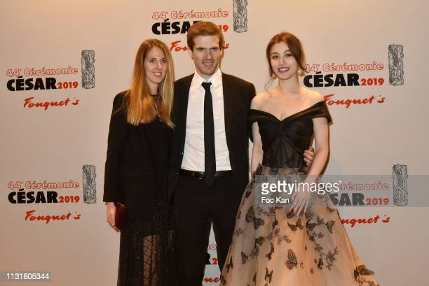 A guest Alexandre Desseigneand actress Ge Tian attend Red Carpet Arrivals Cesar Film Awards 2019 At Le Fouquet's on February 22 2019 in Paris France