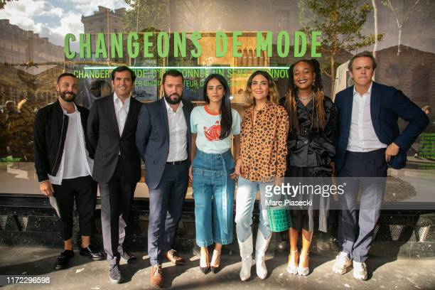 A guest Alexandre Liot Guillaume Houze Hafsia Herzi Charlotte Dereux Kimberly Drew and Nicolas Houze launch 'Changeons de Mode' showcases at Galeries...