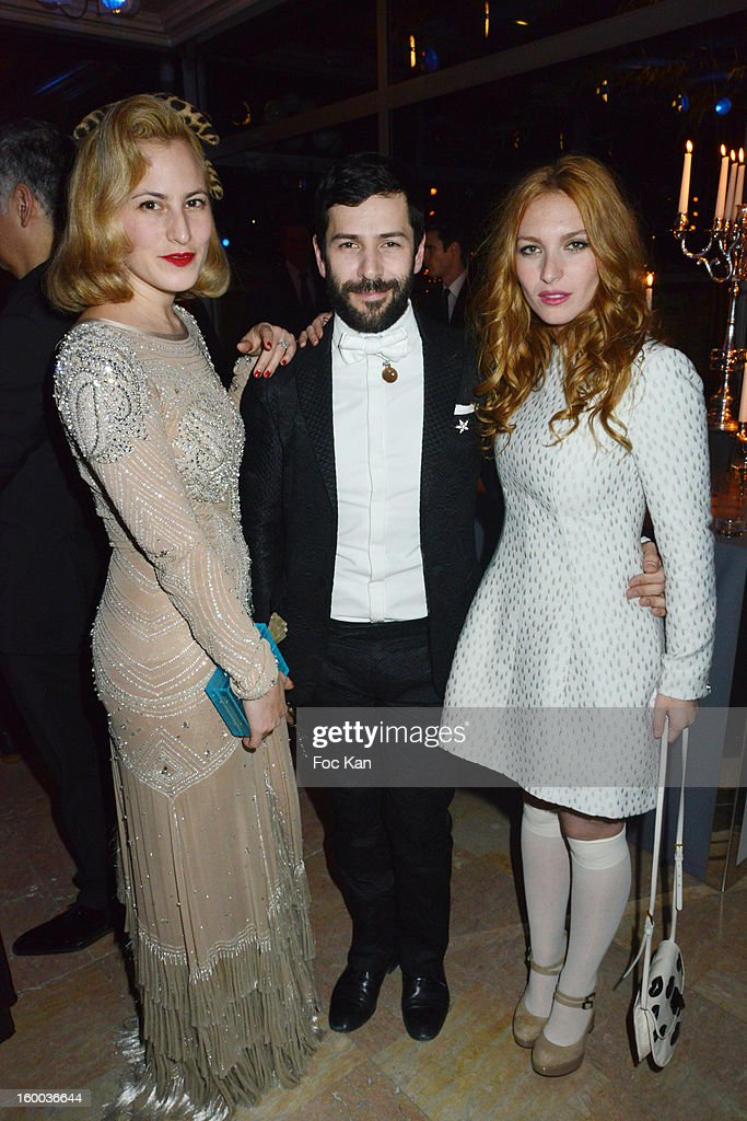 A guest, Alexis Mabille and Josephine de La Baume attend the Sidaction Gala Dinner 2013 at Pavillon d'Armenonville on January 24, 2013 in Paris, France.