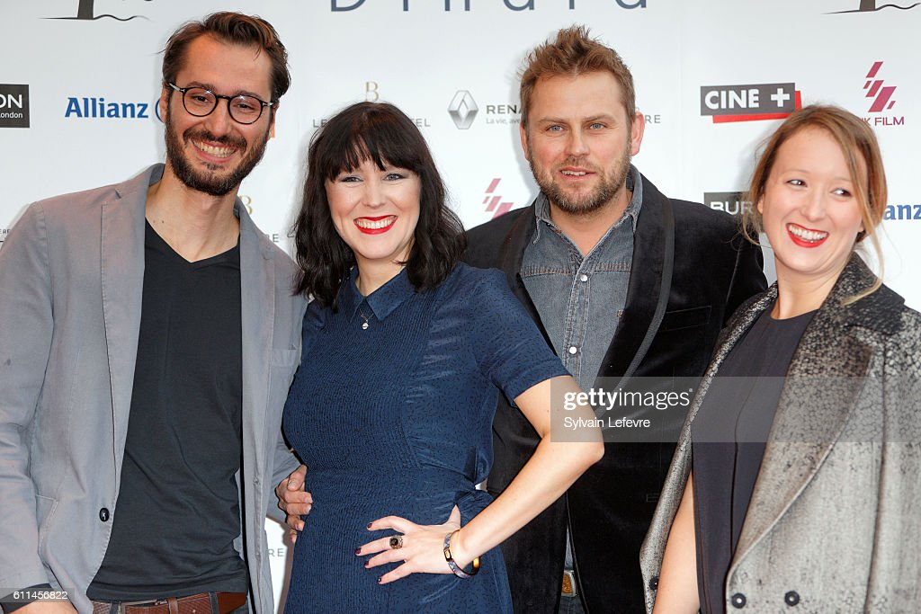 Guest, Alice Lowe, Steve Blackburn and guest attend opening ceremony of 27th Dinard British Film Festival on September 29, 2016 in Dinard, France.