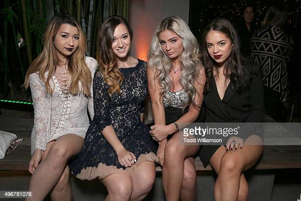 Guest Alisha Marie Carrington Durham and Claudia Sulewski attend the after party for STX Entertainment's Secret In Their Eyes on November 11 2015 in...
