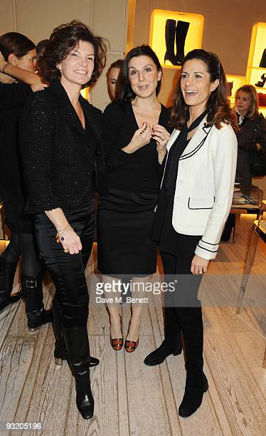 Guest Allegra Donn and Livia Giuggioli attend the Roger Vivier Christie's Jewellery London party on November 18 2009 in London England