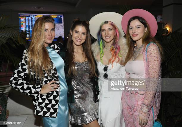 Guest Amanda Cerny Dani Thorne and Bella Thorne attend the 2019 Pegasus World Cup at Gulfstream Park on January 26 2019 in Hallandale Florida