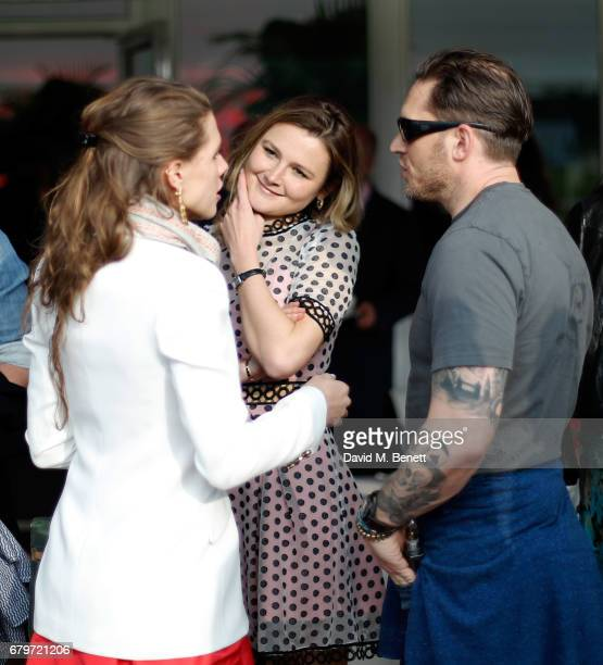 Guest Amber Atherton and Tom Hardy attend the Audi Polo Challenge at Coworth Park on May 6 2017 in Ascot United Kingdom