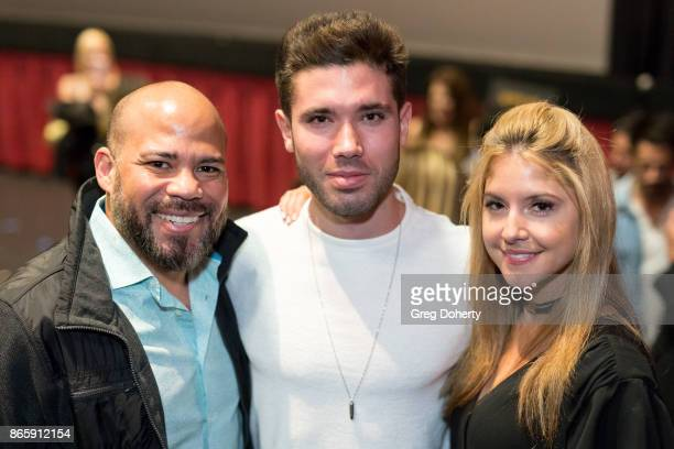 Guest and Actors Kristos Andrews and Brittany Underwood attend the Cast Premiere Screening Of Lany Entertainment's The Bay Season 3 at TCL Chinese...