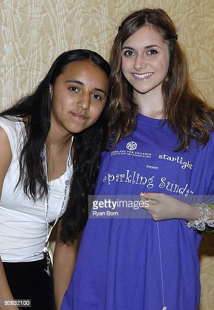 Guest and Actress Alyson Stoner pose for a picture at Starlight Starbright Children's Foundation and Jewelers For Children's presentation of A...