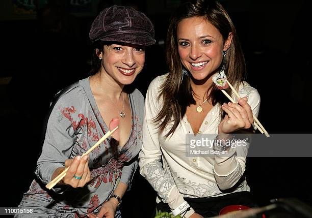 A guest and actress Christine Lakin attend the Dinner Parties at the Heineken Lounge on January 22 2008 in Park City Utah