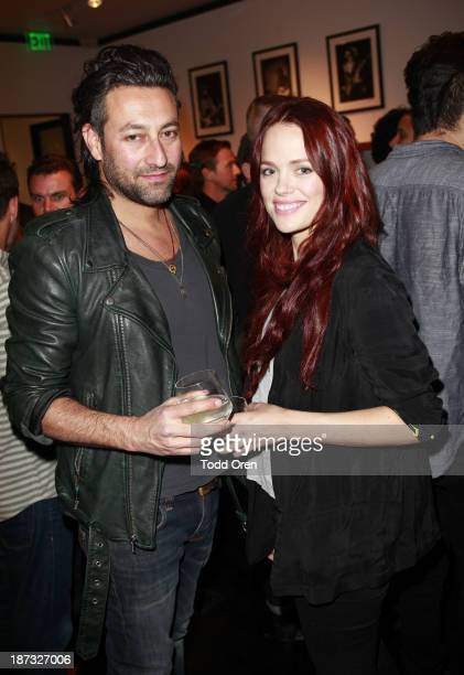 Guest and actress Katia Winter attend the John Varvatos Rock In Fashion book launch celebration held at John Varvatos Los Angeles on November 7 2013...